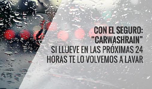 Si llueve durante las siguientes 48 horas tras tu lavado en HOMECARWASH te lavamos tu vehículo gratis