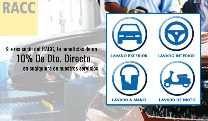 Con la tarjeta del RACC descuento de un 10% en los servicios de lavado de HOMECARWASH